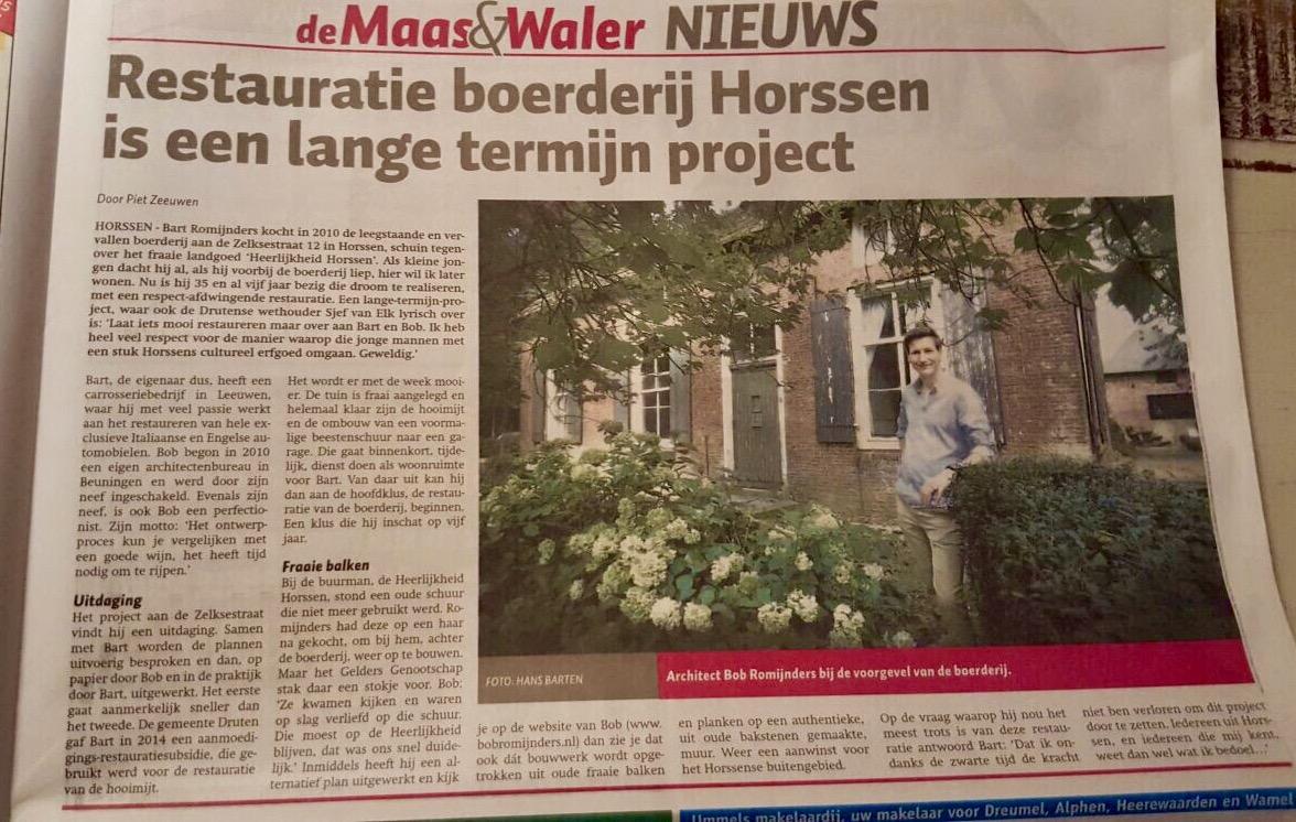Architect Maas en Waal verbouwing Horssen