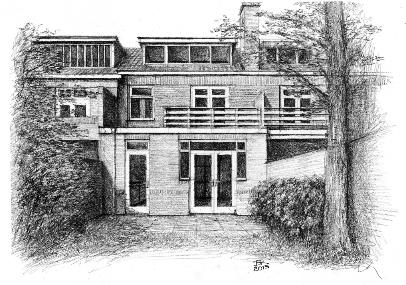 Verbouwing jaren-30-woning 3d-impressie achtergevel