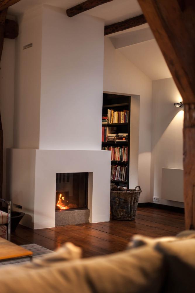 fireplace farm house