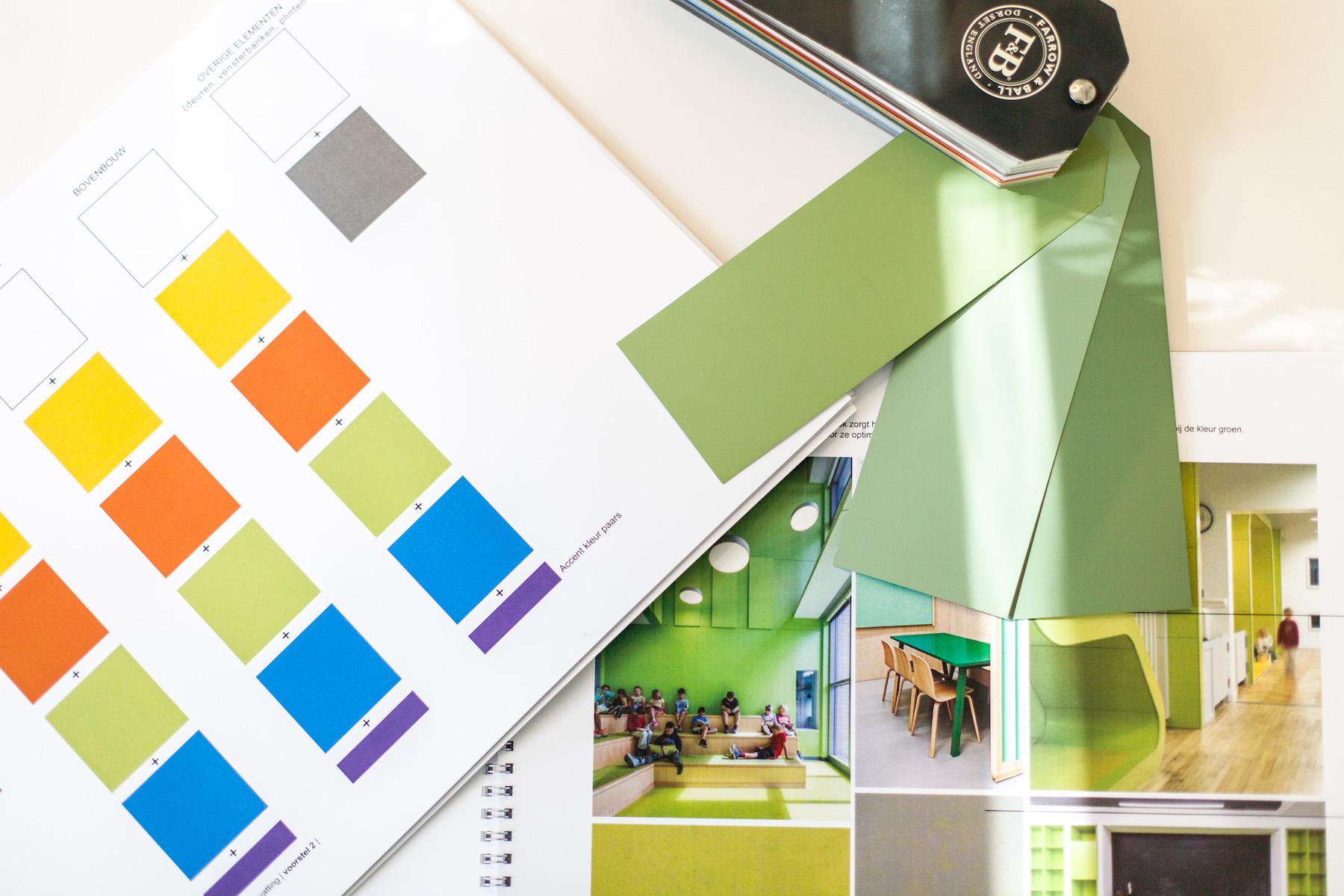 Interieurarchitect Nijmegen kleurenplan basisschool