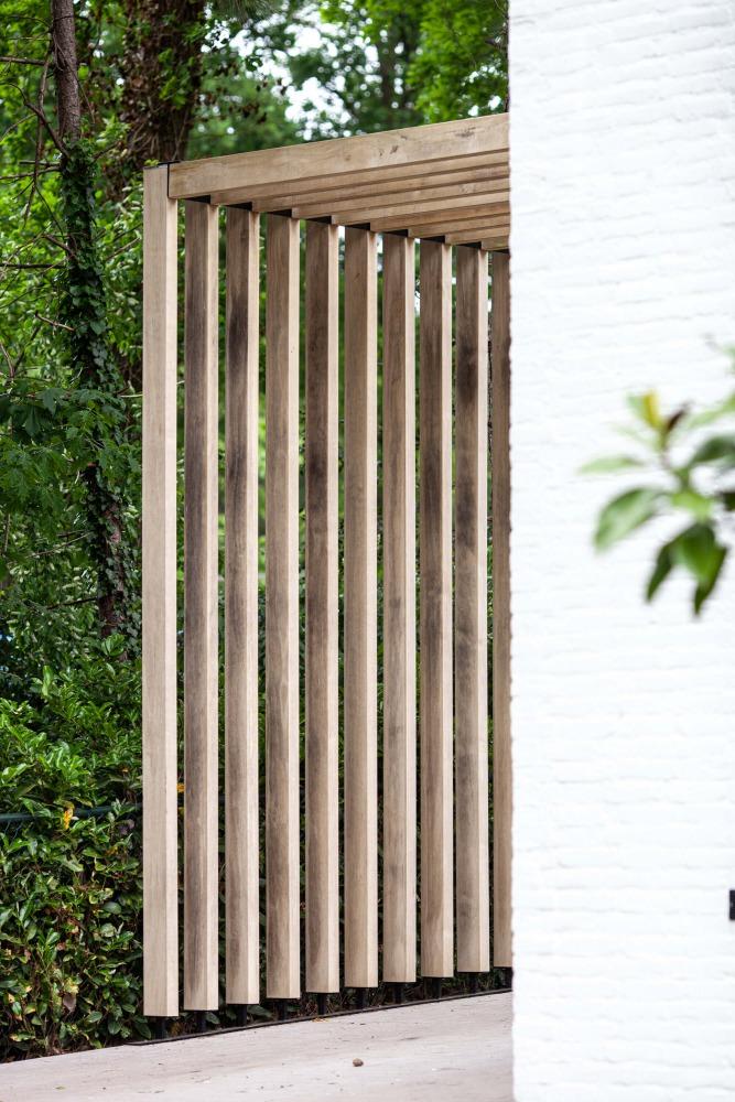 houten lamellen carport voor villa heilig landstichting