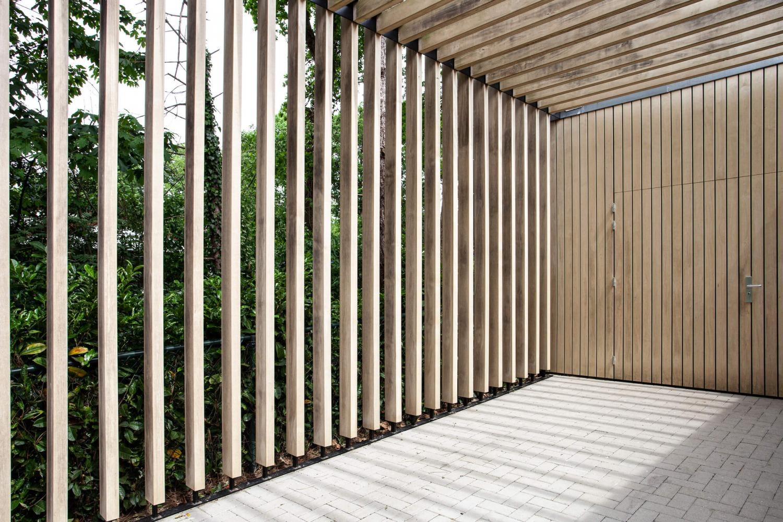 ontwerp moderne carport voor villa heilig landstichting