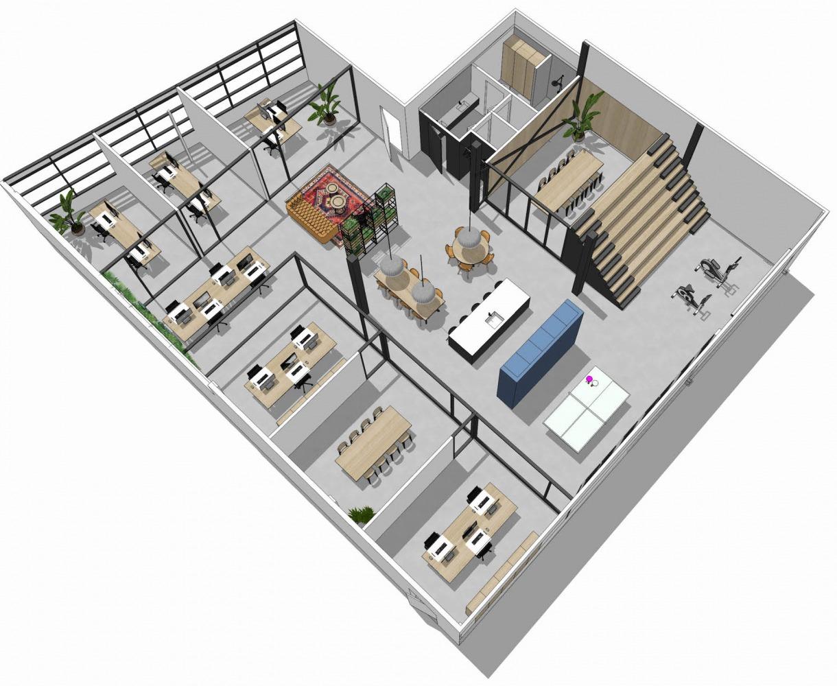 Interieurplan bedrijfsplan 4Blue