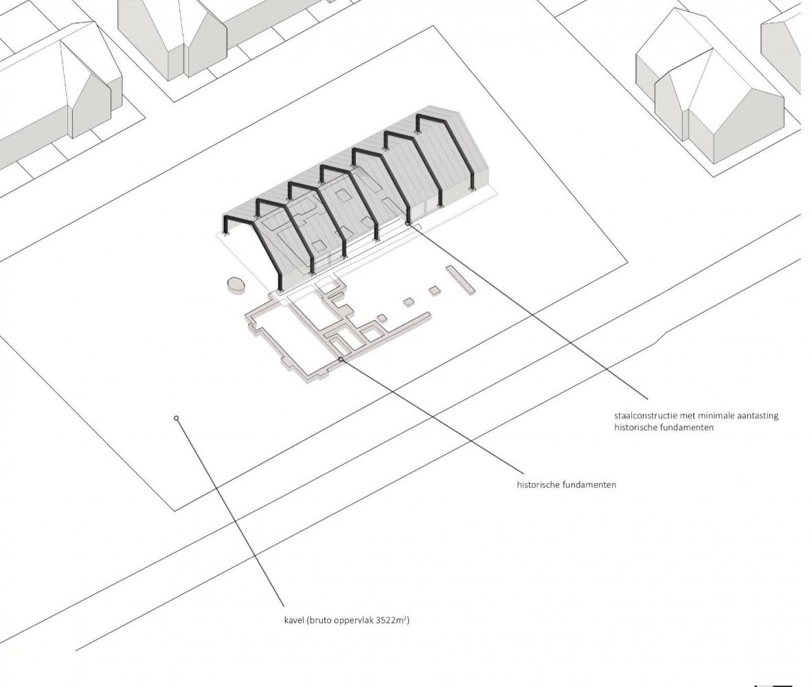 Ontwerp grote boel nieuw horecapand Nijmegen architect