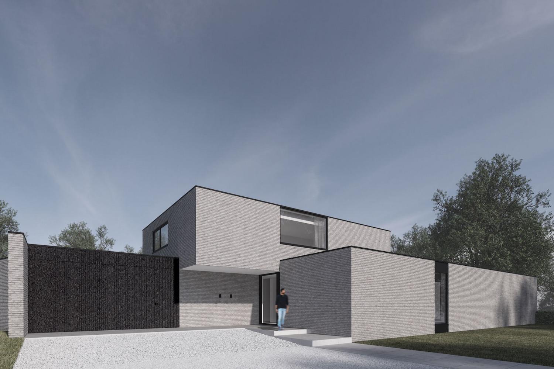 render van moderne villa door architect uit den bosch