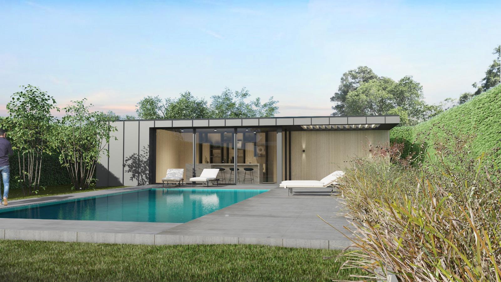 Ontwerp villa nijmegen poolhouse bouwen door architect uit Nijmegen