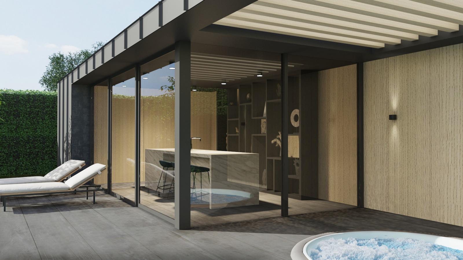 Ontwerp villa nijmegen poolhouse bouwen door architect