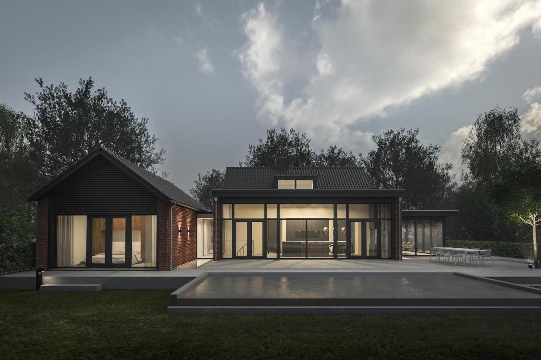 Verbouwing van villa in Blaricum in het Gooi