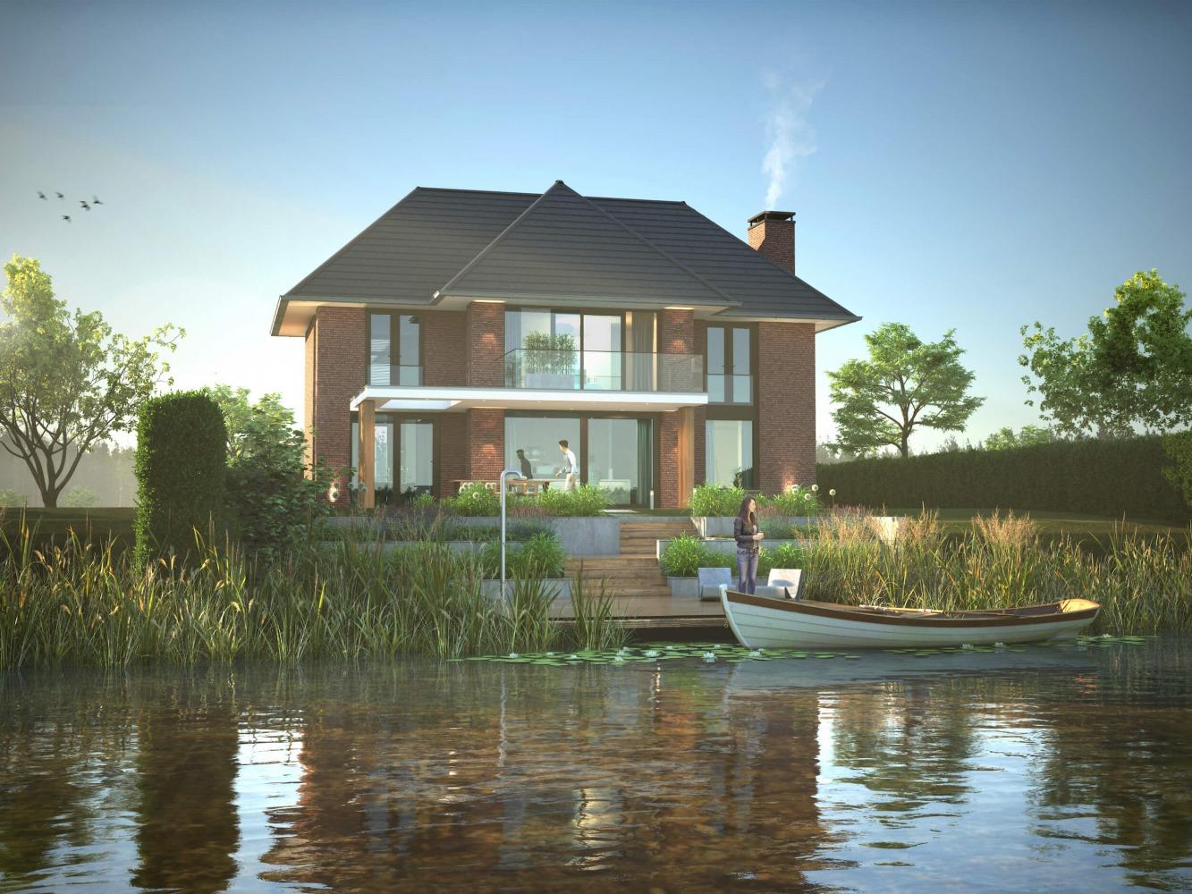 villa ontwerp Nijmegen noord door architect bob Romijnders