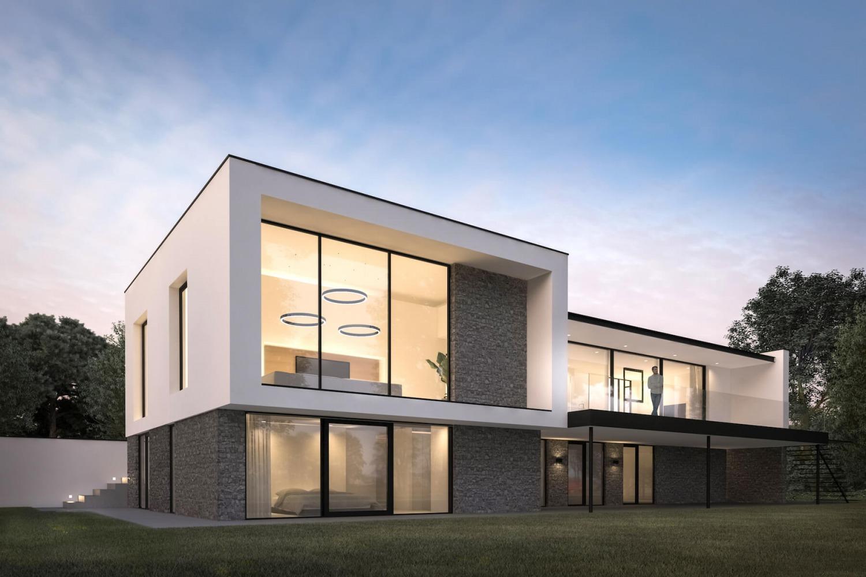 Architectonisch ontwerp voor moderne villa