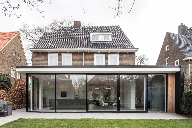 Verbouwing villa architect met uitbouw van villa in Nijmegen