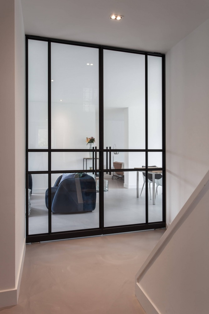 stalen deuren modern huis