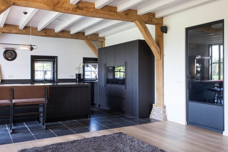 Interieuradvies voor verbouwing leefkeuken villa in Baarn