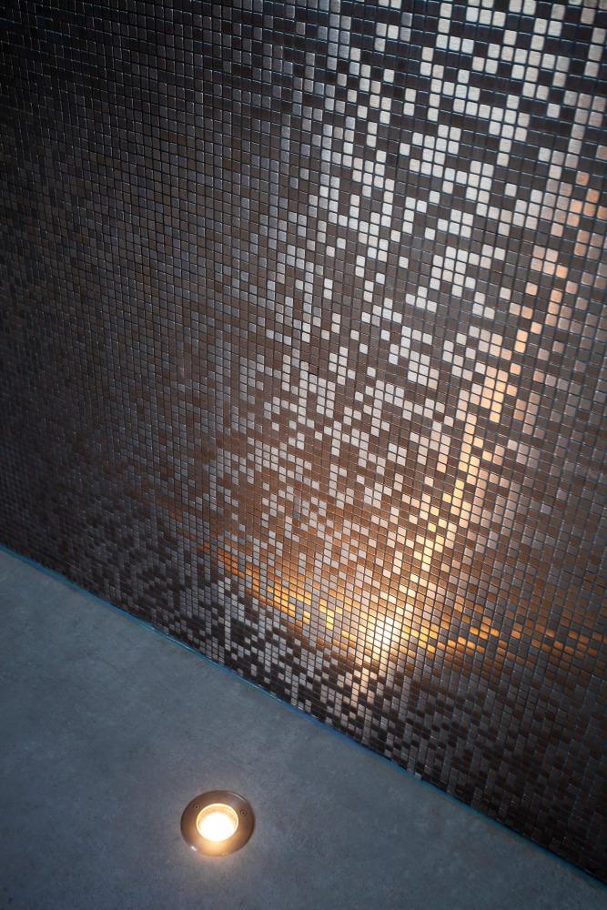 mozaïek muur detail
